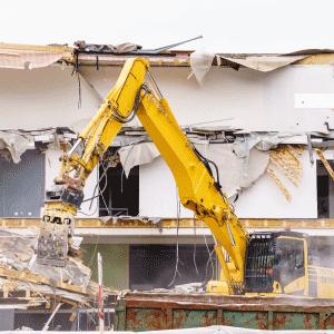 Az épületbontás menete