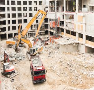 Épületbontás, tereprendezés, földmunka, törmelék elszállítás - épületbontás menete- épületbontás pest megye